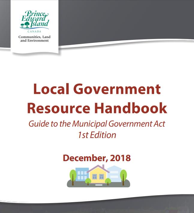 Local Government Resource Handbook, council, cao, mayor, PEI