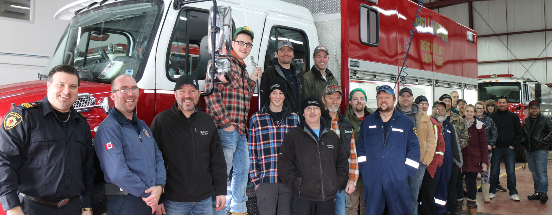 Wellington Firefighters with new rescue truck