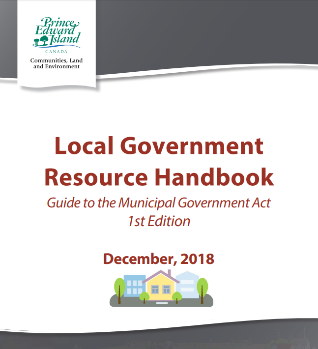 Local Government Resource Handbook, council, cao, mayor, PEI