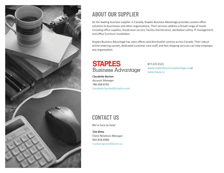 Staples Business Advantage Program ~ FPEIM